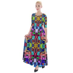 Ab 145 Half Sleeves Maxi Dress