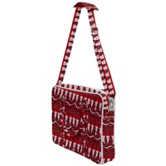 Bearded Santa Pattern Cross Body Office Bag by bloomingvinedesign