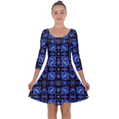 Ab 151 Quarter Sleeve Skater Dress by ArtworkByPatrick
