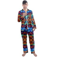 Ab 153 Men s Satin Pajamas Long Pants Set