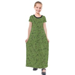 Groyper Pepe The Frog Original Meme Funny Kekistan Green Pattern Kids  Short Sleeve Maxi Dress