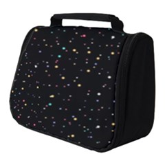 Abstract Colorful Glitters Background Vector Full Print Travel Pouch (small)