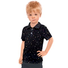 Abstract Colorful Glitters Background Vector Kids  Polo Tee