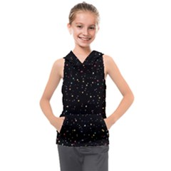 Abstract Colorful Glitters Background Vector Kids  Sleeveless Hoodie