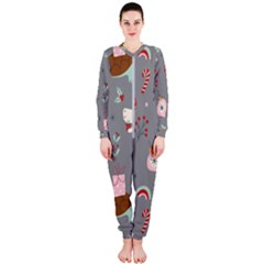 Funny Christmas Pattern Onepiece Jumpsuit (ladies)  by Vaneshart