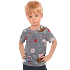 Funny Christmas Pattern Kids  Sports Tee