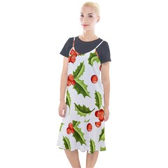 Christmas Holly Berry Seamless Pattern Camis Fishtail Dress by Vaneshart