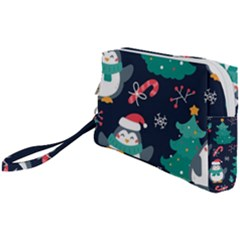 Colorful Funny Christmas Pattern Wristlet Pouch Bag (small)