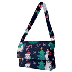 Colorful Funny Christmas Pattern Full Print Messenger Bag (m) by Vaneshart