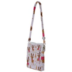 Christmas Seamless Pattern With Reindeer Multi Function Travel Bag