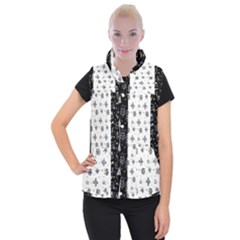 Black Golden Christmas Pattern Collection Women s Button Up Vest