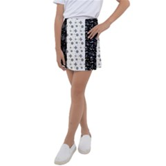 Black Golden Christmas Pattern Collection Kids  Tennis Skirt
