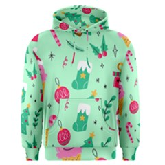 Funny Christmas Pattern Background Men s Core Hoodie