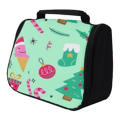 Funny Christmas Pattern Background Full Print Travel Pouch (small)