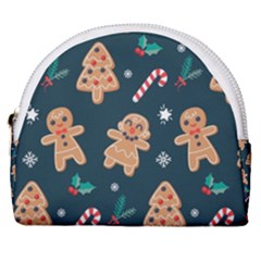 Colourful Funny Christmas Pattern Horseshoe Style Canvas Pouch