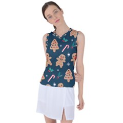 Colourful Funny Christmas Pattern Women s Sleeveless Sports Top by Vaneshart