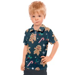 Colourful Funny Christmas Pattern Kids  Polo Tee