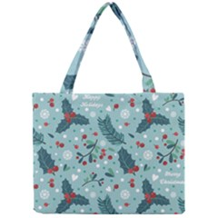 Seamless Pattern With Berries Leaves Mini Tote Bag