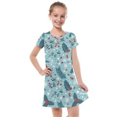 Seamless Pattern With Berries Leaves Kids  Cross Web Dress by Vaneshart