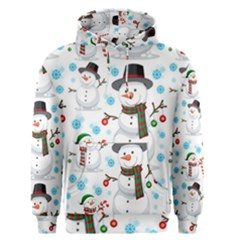 Christmas Snowman Seamless Pattern Men s Core Hoodie