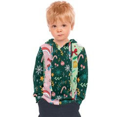Hand Drawn Christmas Pattern Collection Kids  Overhead Hoodie