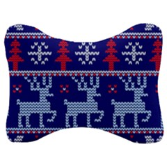 Knitted Christmas Pattern Velour Seat Head Rest Cushion