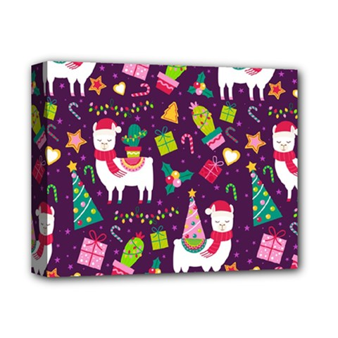 Colorful Funny Christmas Pattern Deluxe Canvas 14  X 11  (stretched)