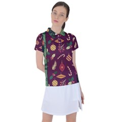 Christmas Pattern Collection Flat Design Women s Polo Tee