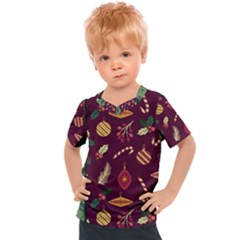 Christmas Pattern Collection Flat Design Kids  Sports Tee