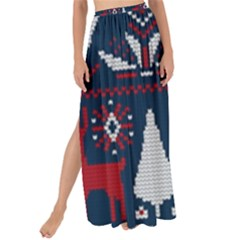 Knitted Christmas Pattern Maxi Chiffon Tie Up Sarong