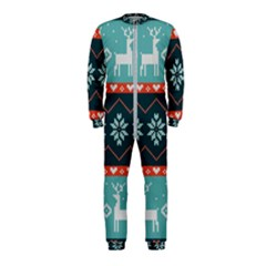 Beautiful Knitted Christmas Pattern Onepiece Jumpsuit (kids) by Vaneshart