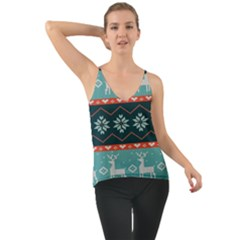 Beautiful Knitted Christmas Pattern Chiffon Cami
