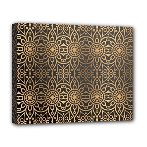 Luxury Ornamental Mandala Design Background Deluxe Canvas 20  X 16  (stretched)