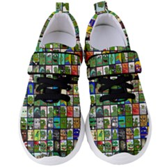 Pepe The Frog Memes Of 2019 Picture Patchwork Pattern Women s Velcro Strap Shoes by snek