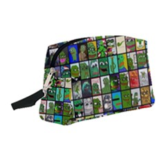 Pepe The Frog Memes Of 2019 Picture Patchwork Pattern Wristlet Pouch Bag (medium) by snek