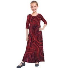 Electric Field Art Lviii Kids  Quarter Sleeve Maxi Dress