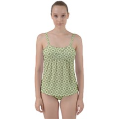 Df Codenoors Ronet Twist Front Tankini Set