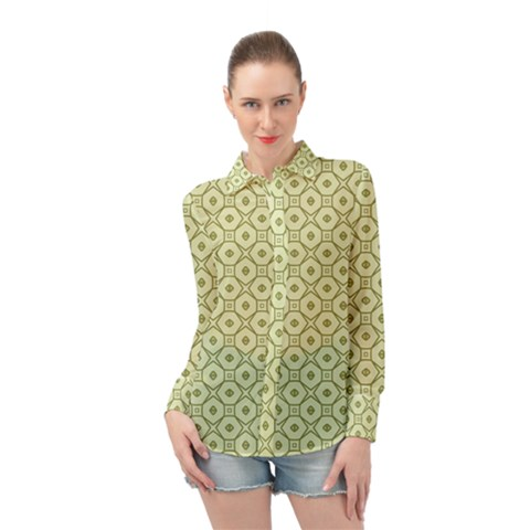 Df Codenoors Ronet Long Sleeve Chiffon Shirt by deformigo