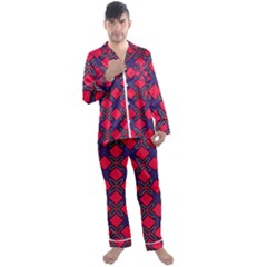 Df Wyonna Wanlay Men s Satin Pajamas Long Pants Set