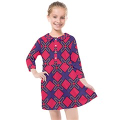 Df Wyonna Wanlay Kids  Quarter Sleeve Shirt Dress