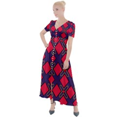 Df Wyonna Wanlay Button Up Short Sleeve Maxi Dress