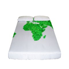 Environment Concept World Map Illustration Fitted Sheet (full/ Double Size) by dflcprintsclothing