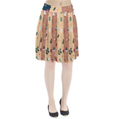 Flat Design Christmas Pattern Collection Pleated Skirt