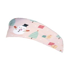 Cute Snowman Christmas Season Seamless Pattern Stretchable Headband