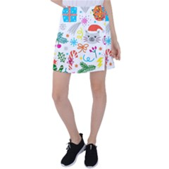 Funny Christmas Pattern Tennis Skirt
