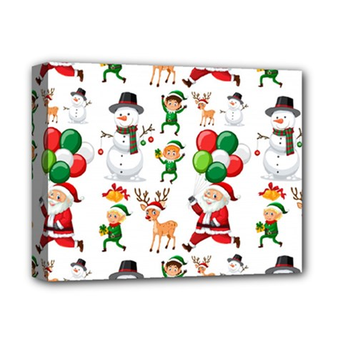 Seamless Pattern Christmas Deluxe Canvas 14  X 11  (stretched) by Vaneshart