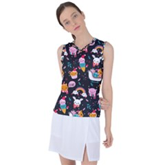 Colorful Funny Christmas Pattern Merry Xmas Women s Sleeveless Sports Top by Vaneshart