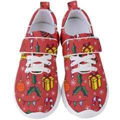 Colorful Funny Christmas Pattern Women s Velcro Strap Shoes by Vaneshart