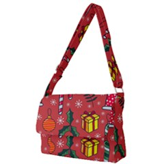 Colorful Funny Christmas Pattern Full Print Messenger Bag (l)