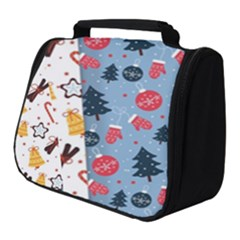 Christmas Pattern Collection Flat Design Full Print Travel Pouch (small)